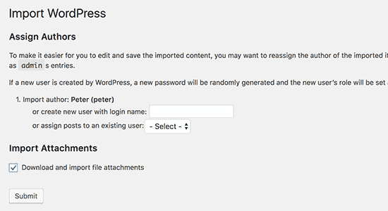 Importing WordPress.com content to WordPress.org