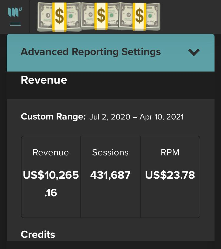 $10,000 from blogging on Mediavine using Pinterest traffic.